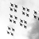 On June 4, 1983, the 419th Tactical Fighter Wing, Utah's only Air Force Reserve flying unit, began retiring the renowned F-105 Thunderchief with a 24-ship flyover of Hill Air Force Base. Personnel who had distinguished themselves in combat operations years before in Southeast Asia led and participated in the singular final tribute.