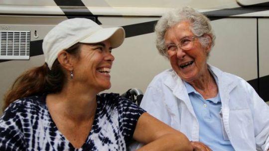 Ramie Liddle and her mother-in-law Norma Bauerschmidt