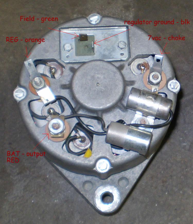 motorola alternator wiring diagram ford tractor