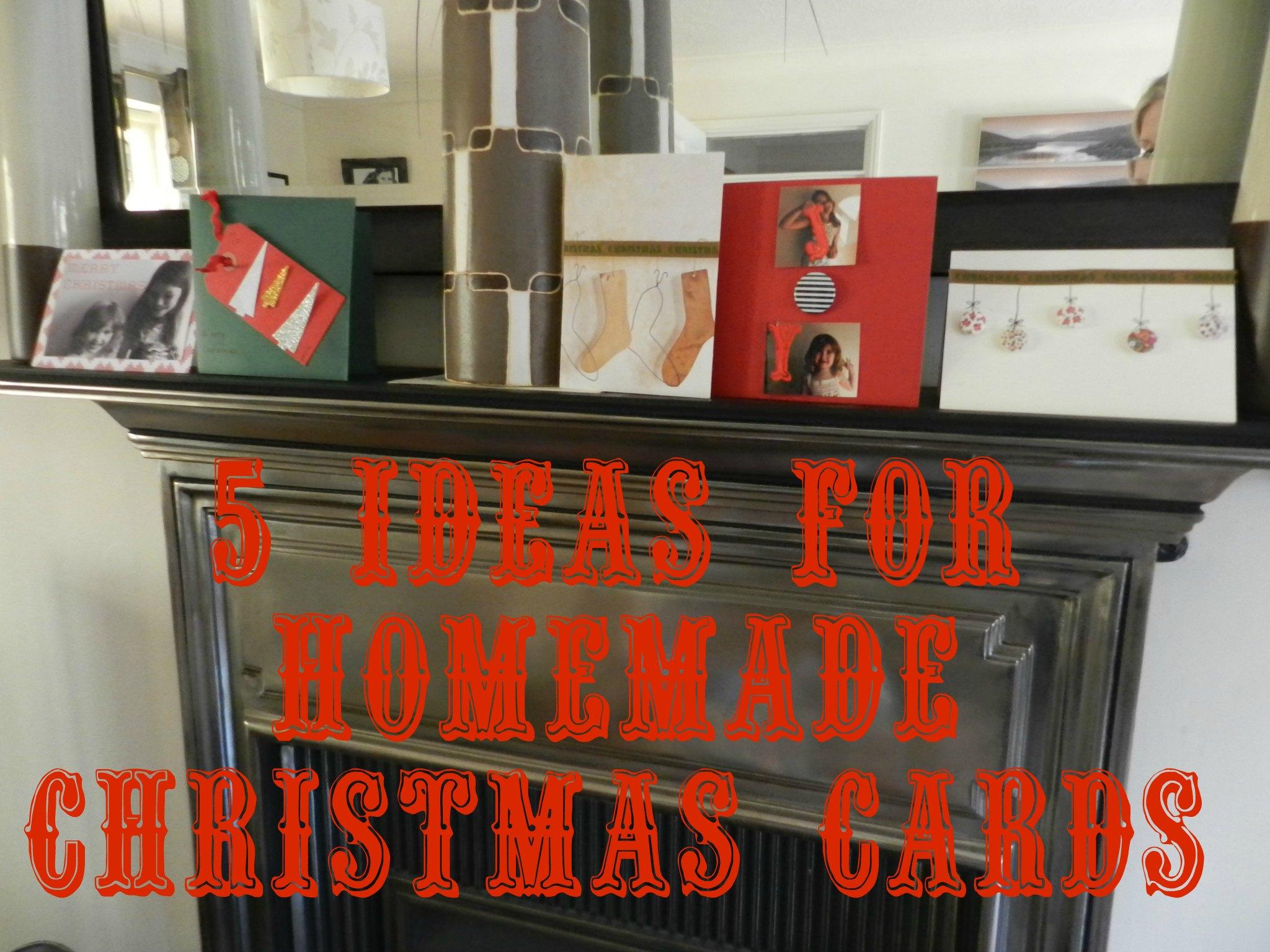 5 ideas for handmade christmas cards
