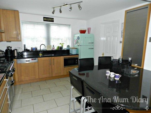 Plain Bright, simple kitchen, white, light, smeg