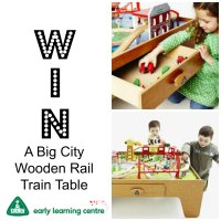 Giveaway for a Big City Wooden Rail Train Table (Worth  ...