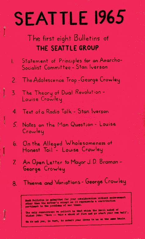 The Seattle Group Bulletins The Anarchist Library