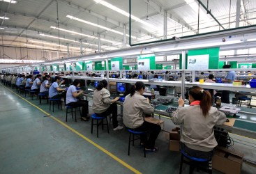 Factory Workers in Shenzhen, China
