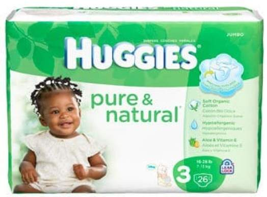 Huggies Pure & Natural diapers