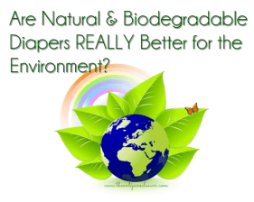Are biodegradable diapers really better for the environment?