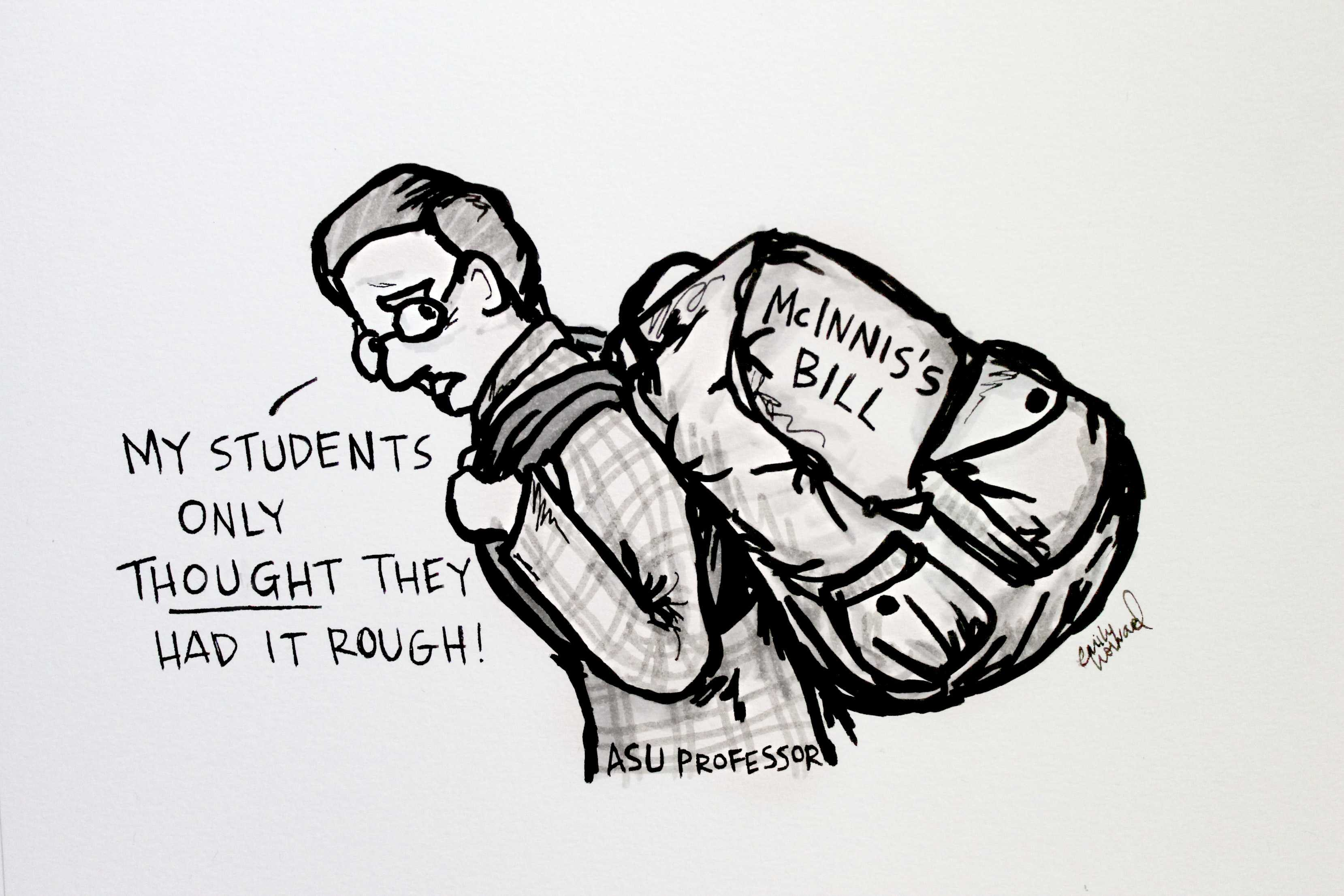 Cartoon: Requiring professors to teach more would harm UNC system