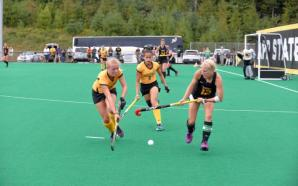 App's Julia Wenz (left) and Micaela Diedericks (middle) look to defend VCU during this weekend's game Photo Courtesy: App State Athletics/Bob Gregory