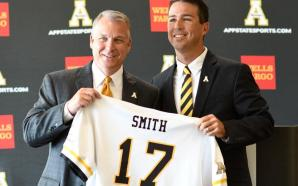 Coach Kermit Smith introduced last July. Photo courtesy: App State Athletics