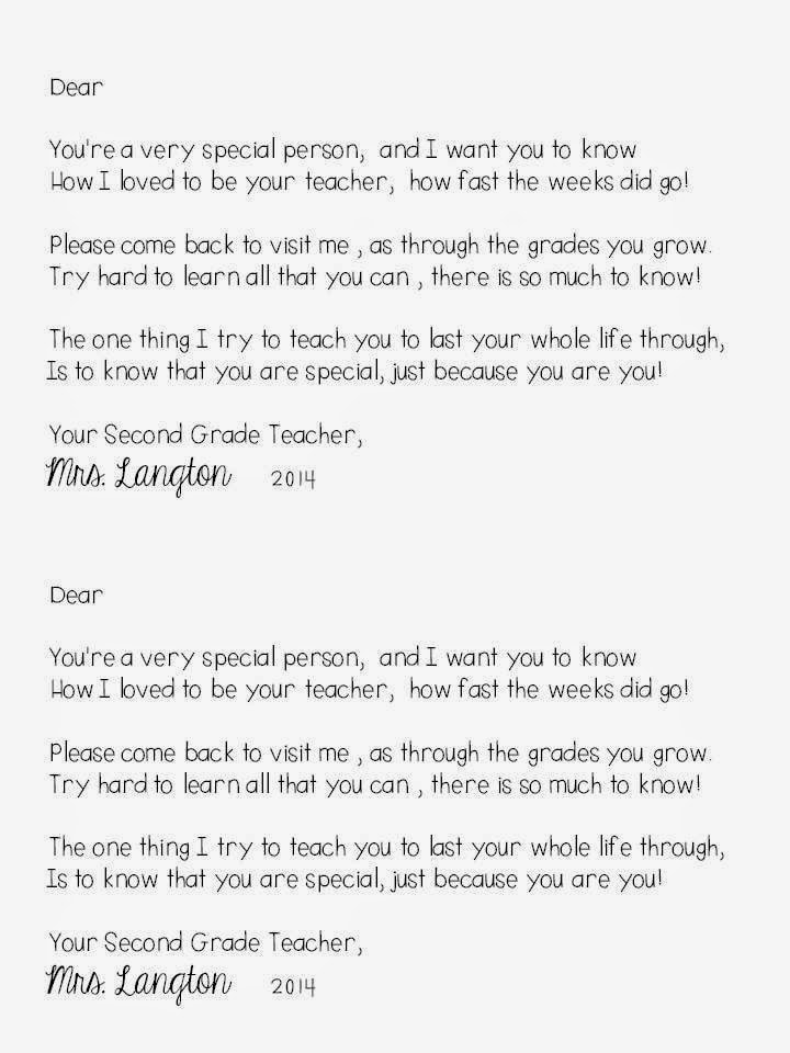 End-of-the-Year-Letter-to-students - The Applicious Teacher - letter to students from teacher
