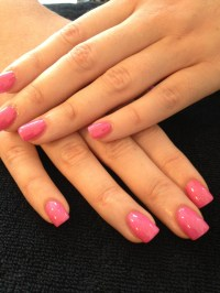 Shellac Pink Sparkle Acrylic Nails ...