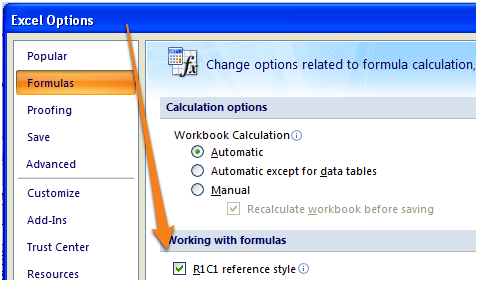 Excel R1C1 Reference