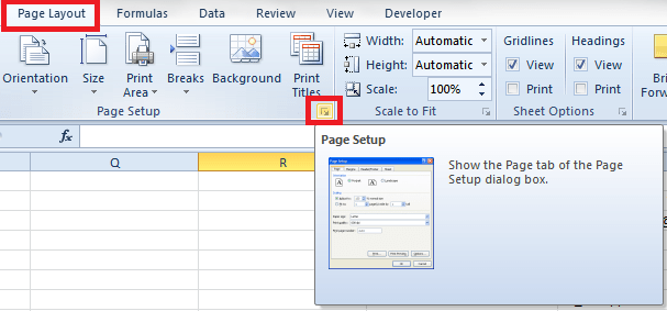 Insert Page Numbers in Multiple Worksheets