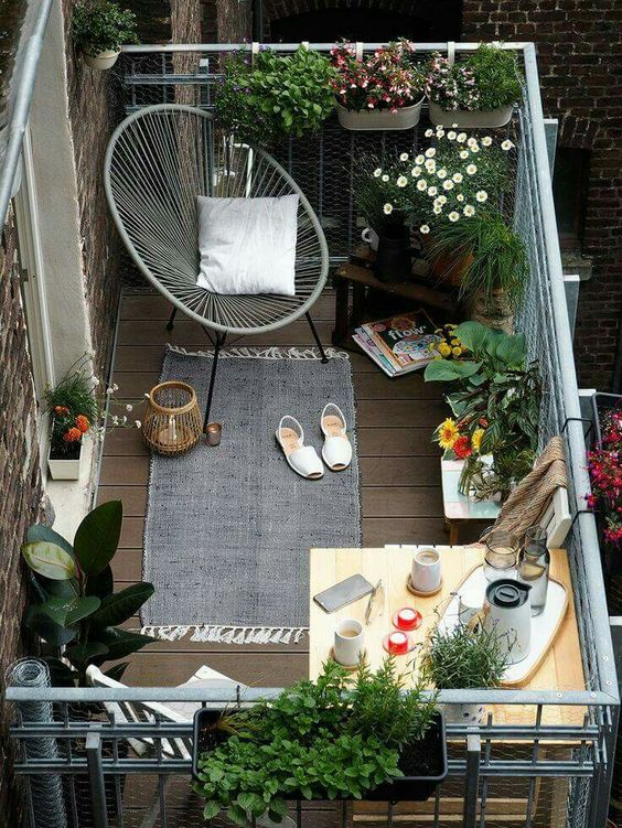 Terrasse Lounge 51 Small Balcony Decor Ideas - The Architects Diary
