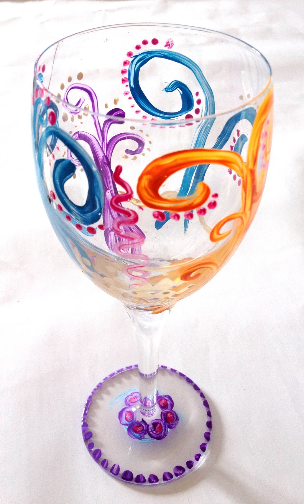 Wine Glass Ideas Decorate Wine Glass