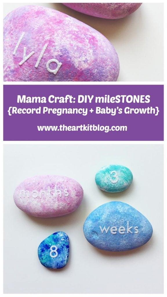 Mama Craft DIY mileSTONES to track pregnancy + baby\u0027s growth - The