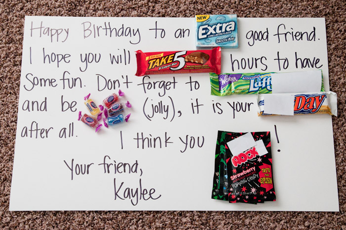 Birthday Card For Boyfriend With Candy - Birthday Poster Ideas For