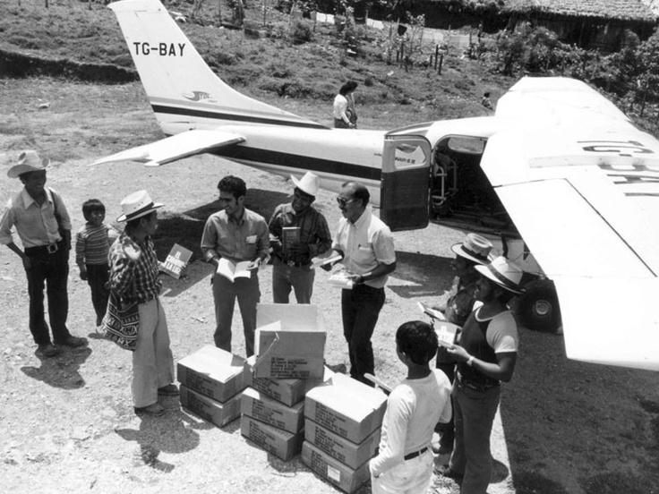 Distributing Bibles in Guatemala