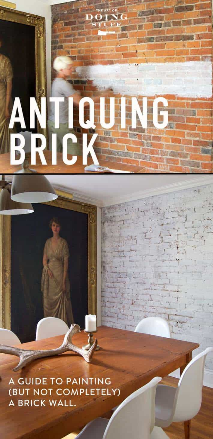 Lime Wash Brick Fireplace How To Paint A Brick Wall So It Still Has That Antique Character