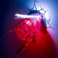 20 Inspirations of 3D Wall Art Night Light Spiderman Hand