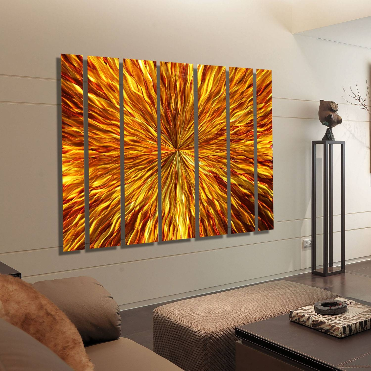 Oversized Modern Wall Art 20 Photos Large Abstract Metal Wall Art