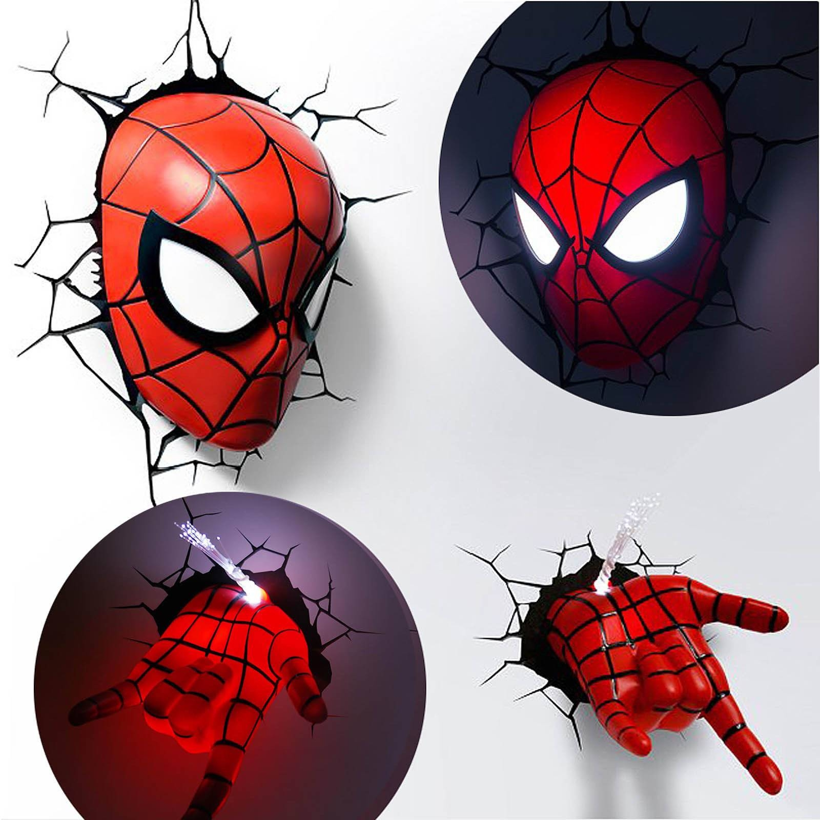 3d Wall Art Night Light 20 Inspirations Of 3d Wall Art Night Light Spiderman Hand