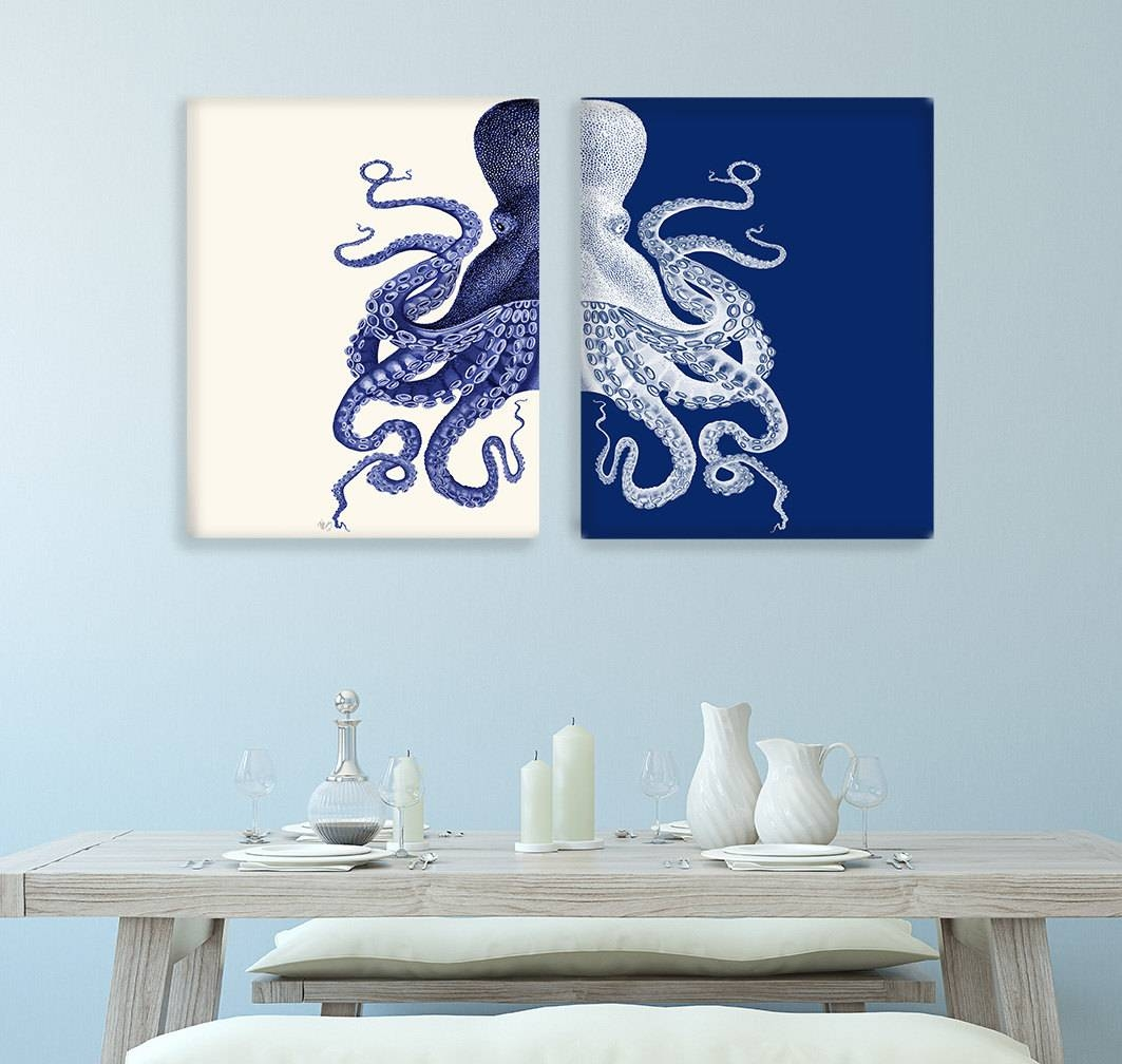 Bathroom Wall Art And Decor The Best Blue And Cream Wall Art
