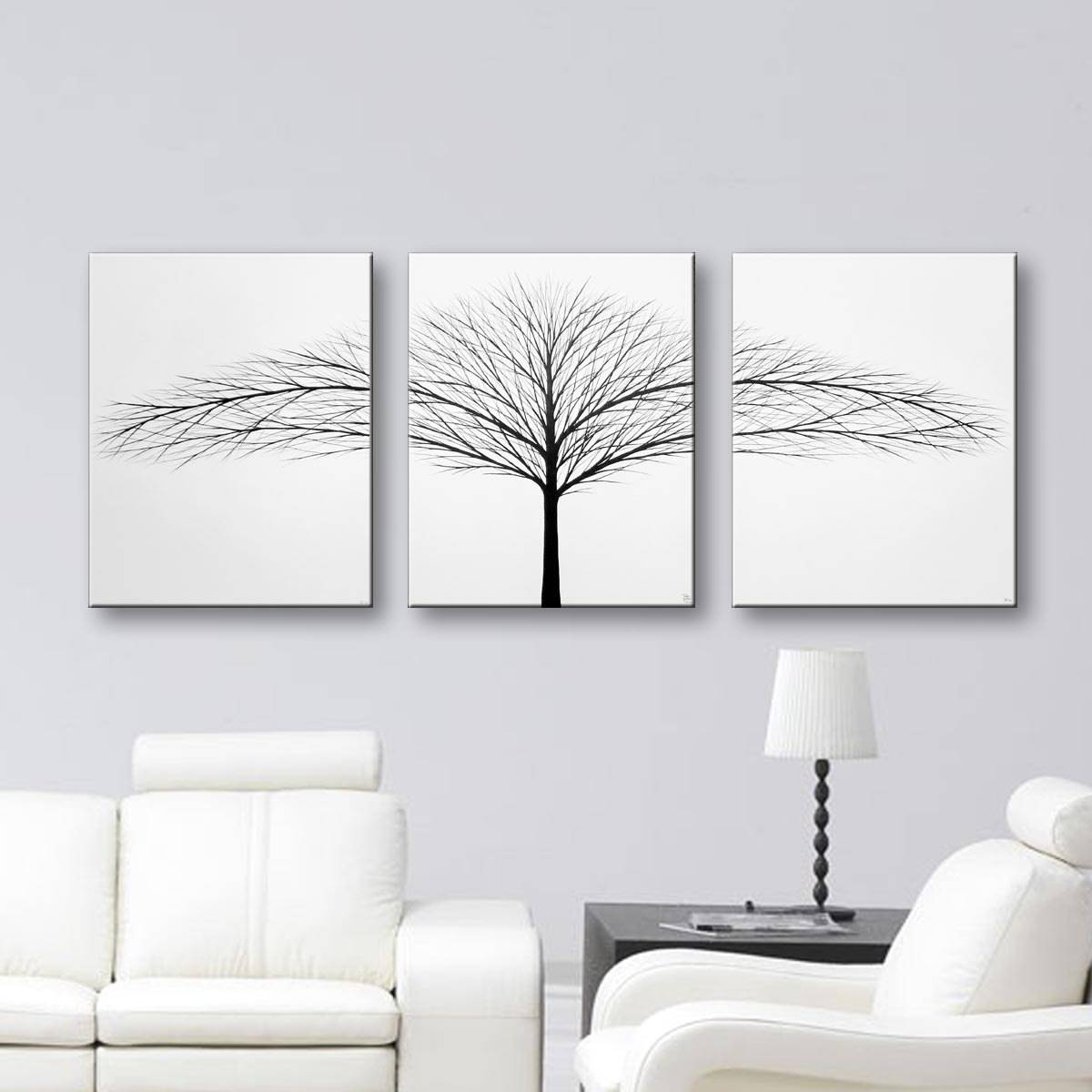 Wall Art Decor 20 Ideas Of Painted Trees Wall Art