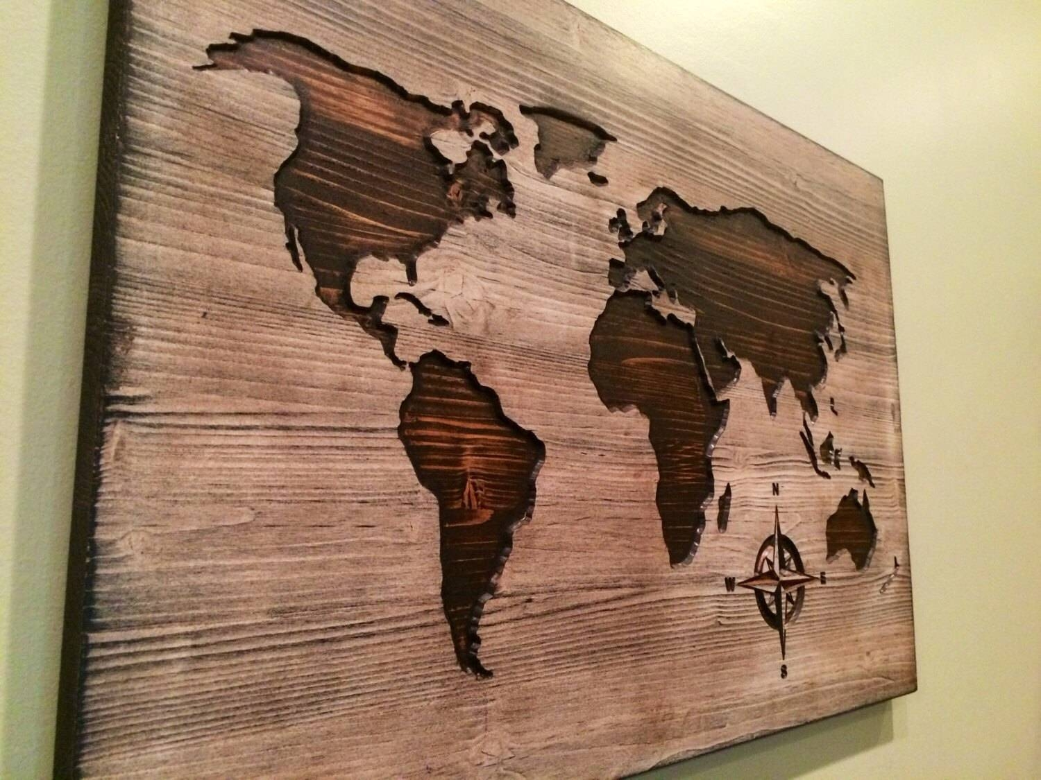 Wood Art | Wood Wall Art Reclaimed Wood Art Quotthe Northern Lights