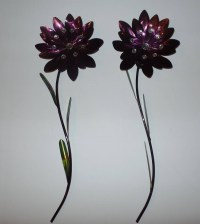 25 Ideas of Purple Flower Metal Wall Art