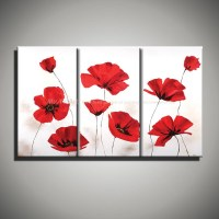 20 Best Collection of Red Poppy Canvas Wall Art