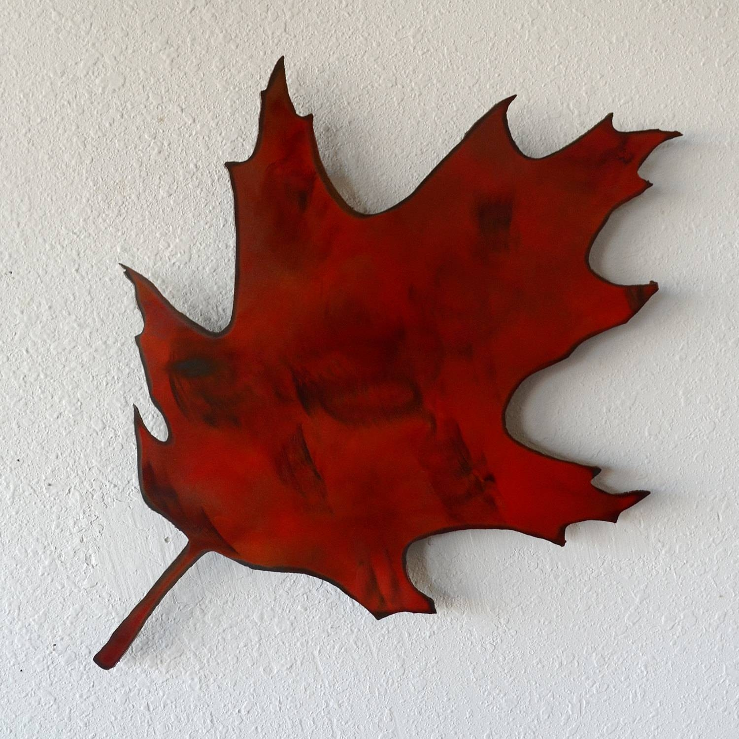Leaf Metal Wall Art 30 Best Ideas Of Oak Tree Metal Wall Art