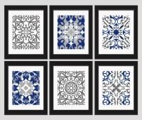 20 Best Collection of Dark Blue Wall Art