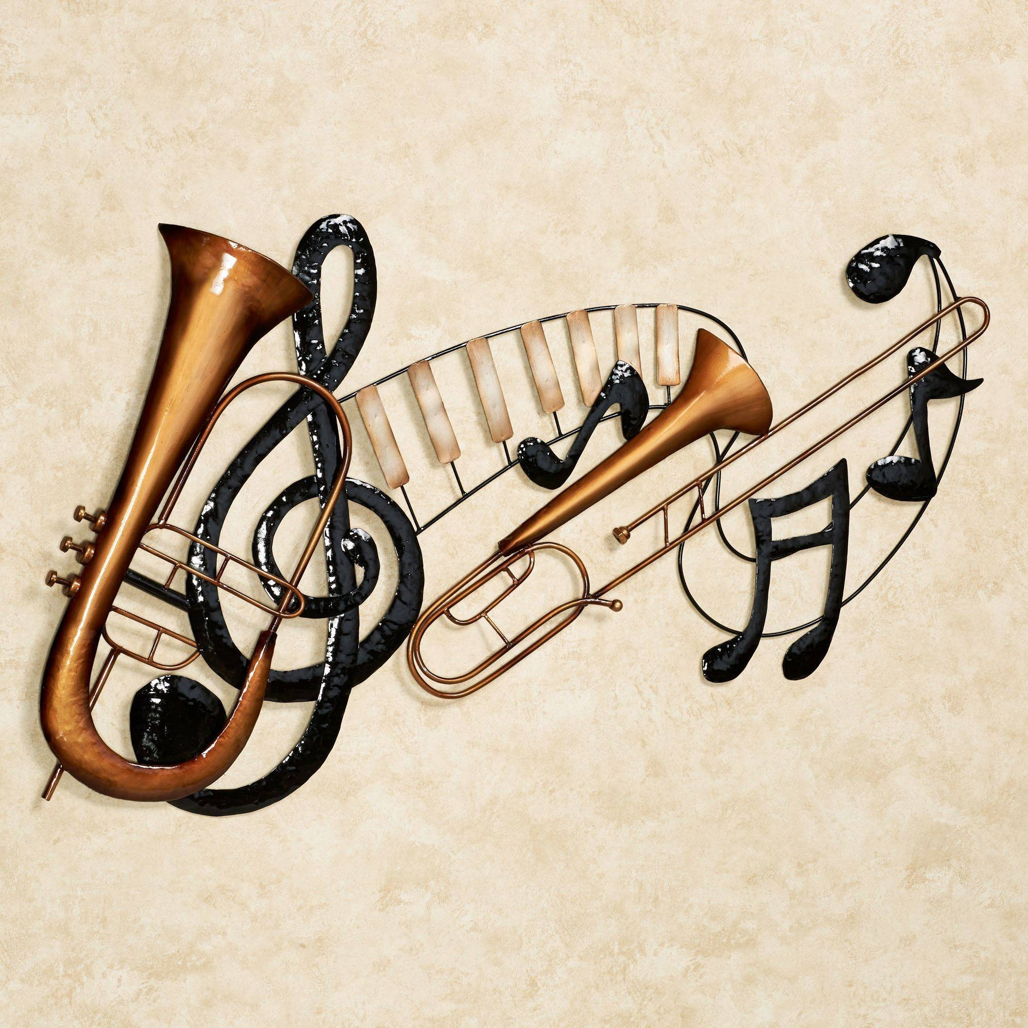 Music Notes Metal Wall Art Best 20 43 Of Metal Music Wall Art
