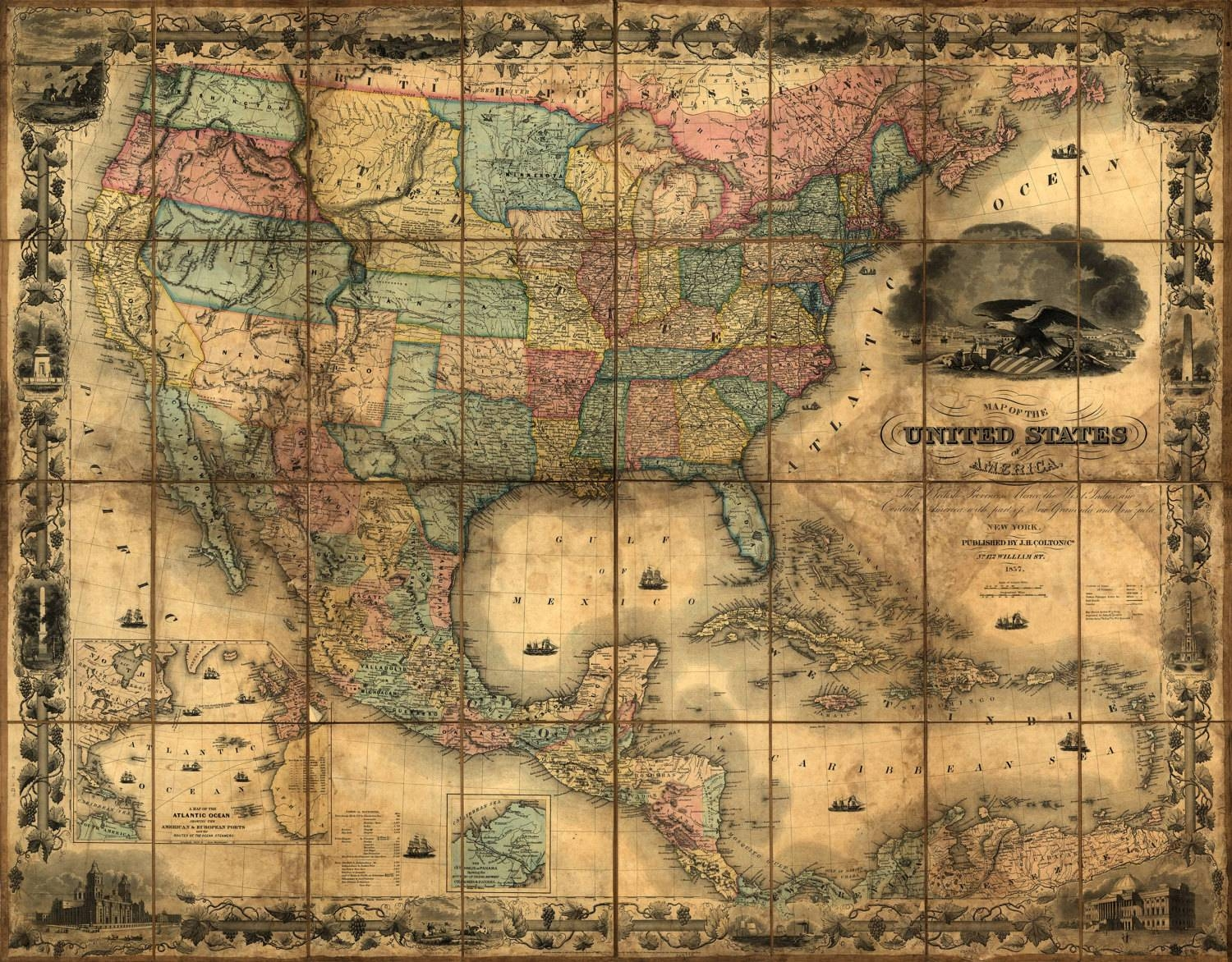 The Best Us Map Wall Art