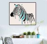 25 Photos Zebra Wall Art Canvas