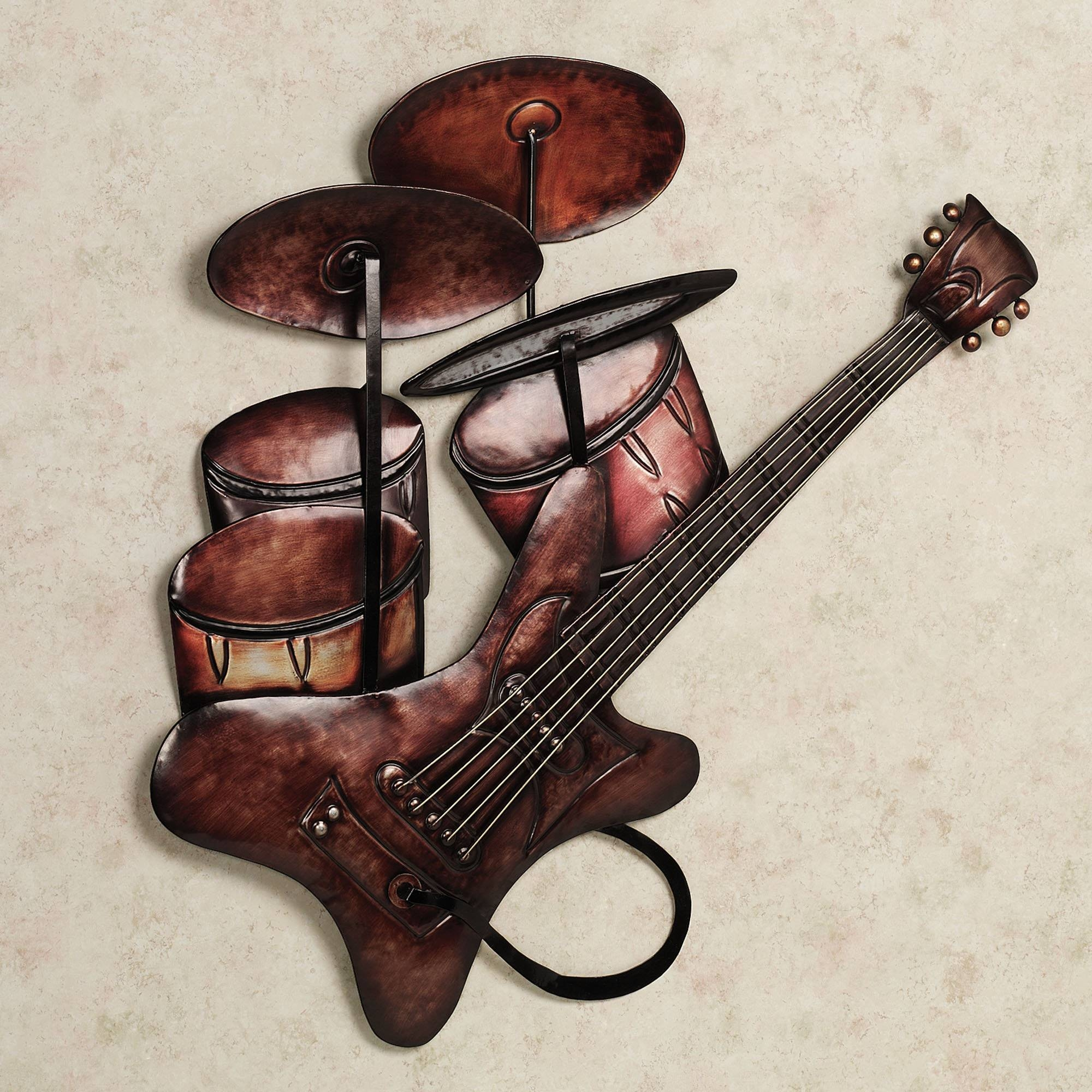 Musical Wall Art Metal 25 Best Collection Of Musical Instrument Wall Art