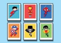 25 The Best Superhero Wall Art For Kids