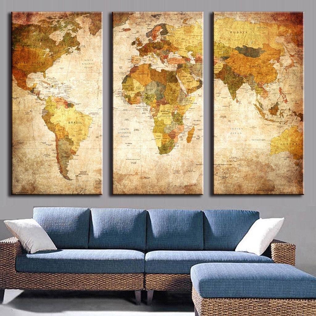 World Map Decorations Photos Of Framed World Map Wall Art Showing 4 Of 20 Photos