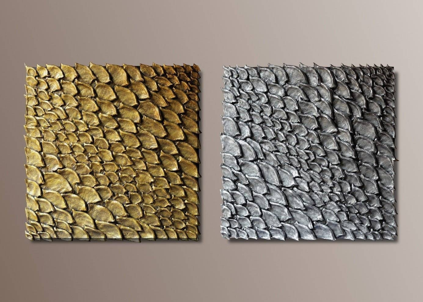 Gold And Silver Wall Decor
