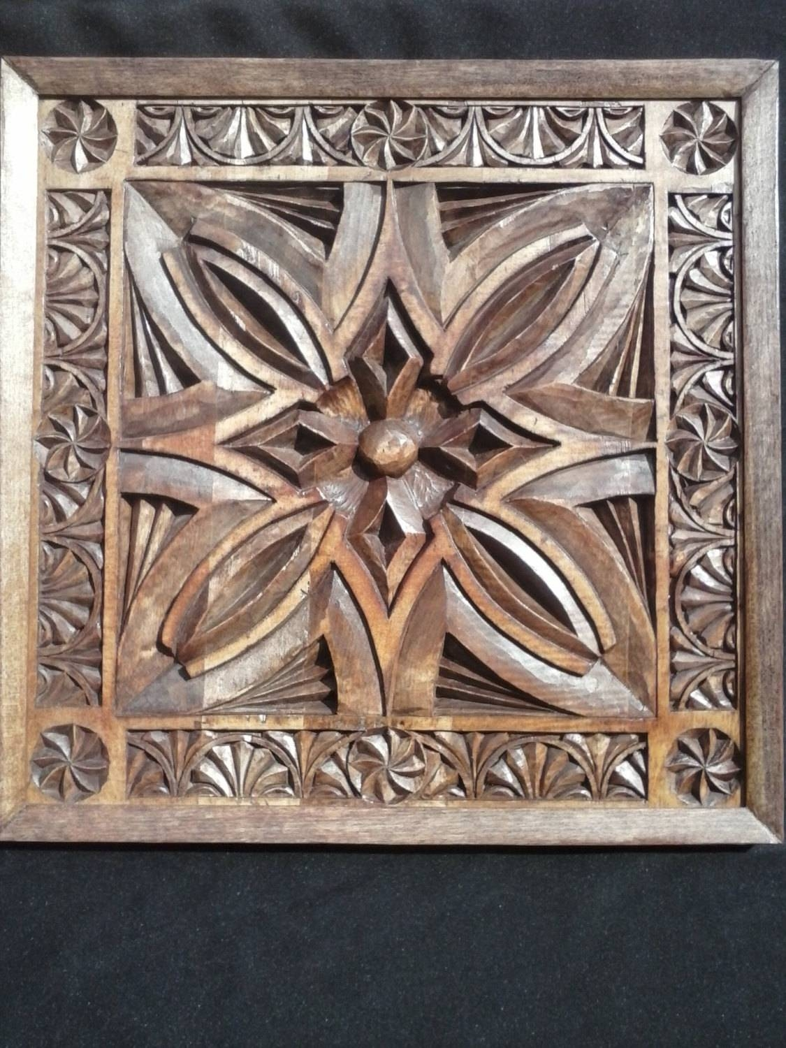 Wood Panel Wall Art 25 Best Collection Of Wood Carved Wall Art Panels