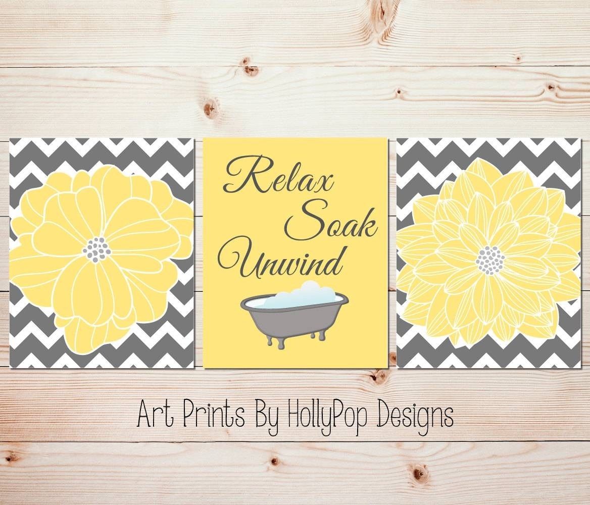 Bathroom Wall Art And Decor 2018 Latest Yellow And Grey Wall Art