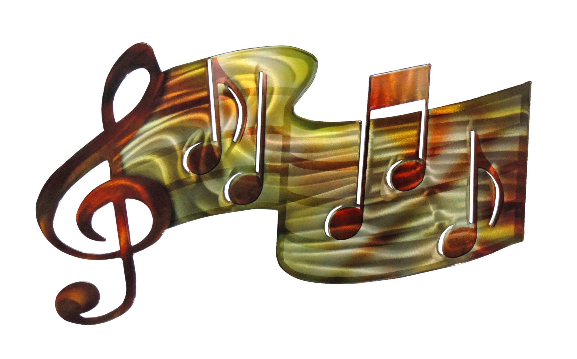 Music Notes Metal Wall Art Top 20 Of Musical Metal Wall Art