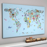 The Best World Map Wall Art For Kids