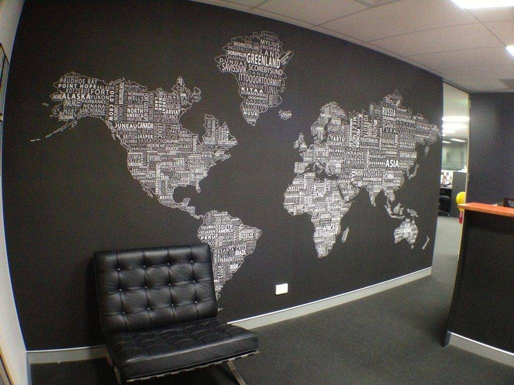 Awesome Wall Decor The Best World Map Wall Art For Kids