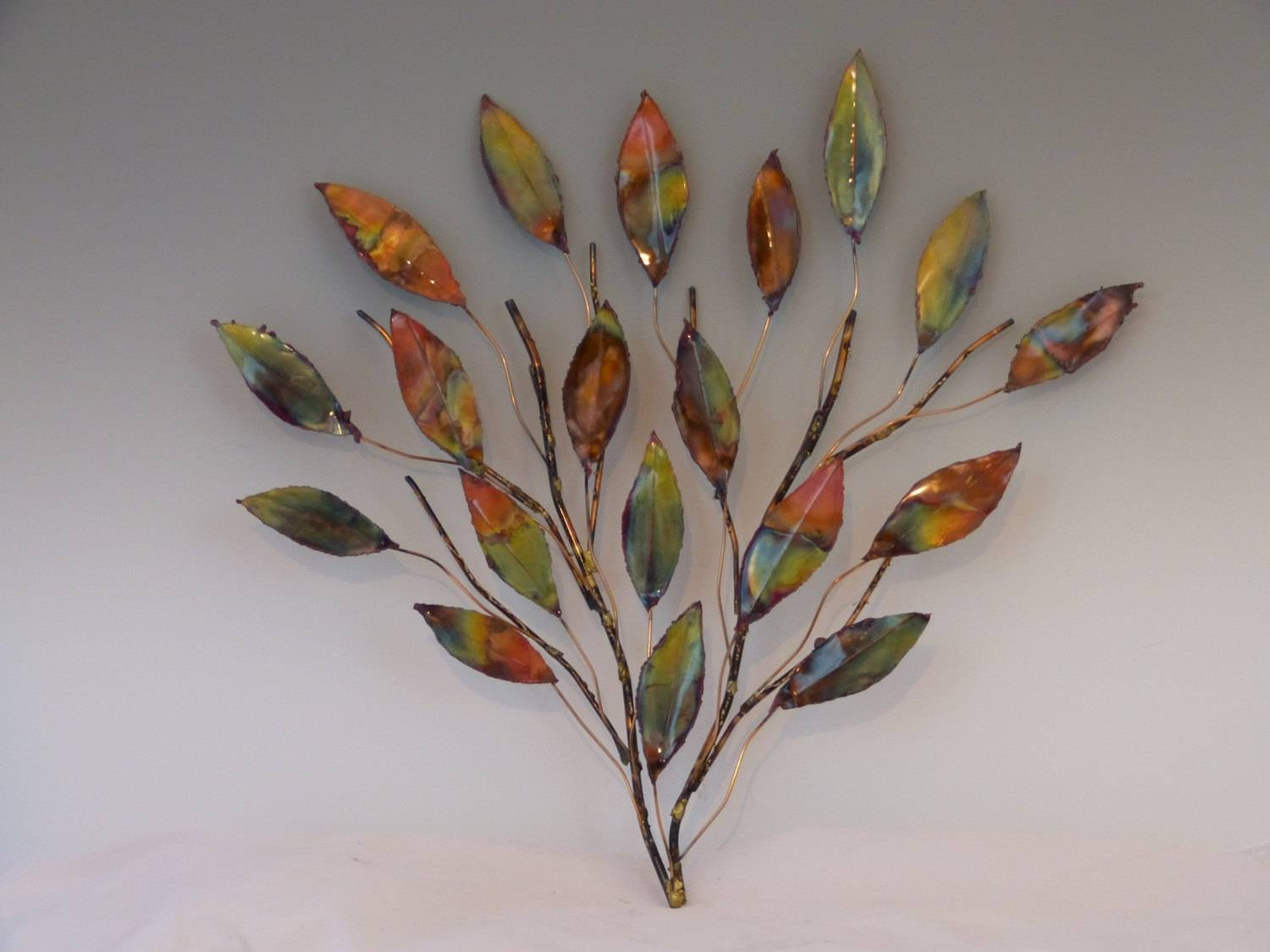 Leaf Metal Wall Art Top 20 Of Leaf Metal Wall Art
