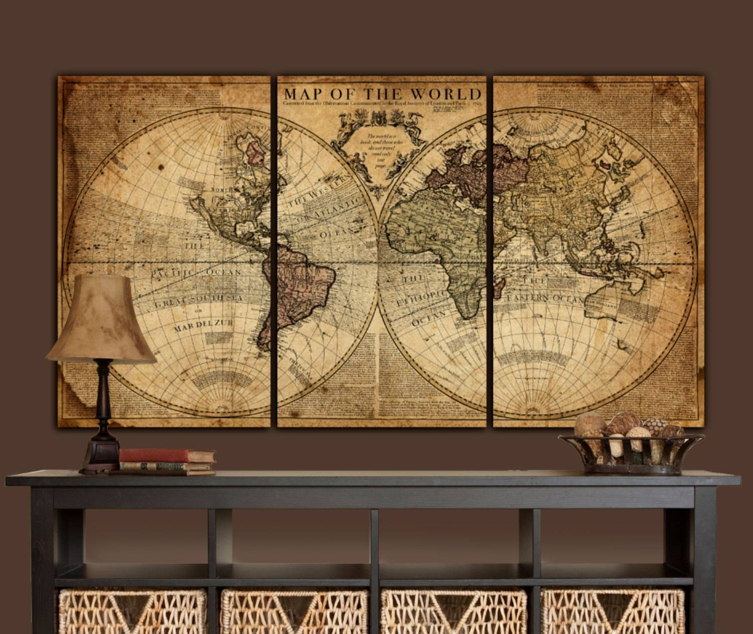 Big Artwork For Walls 20 Best Collection Of Large World Map Wall Art