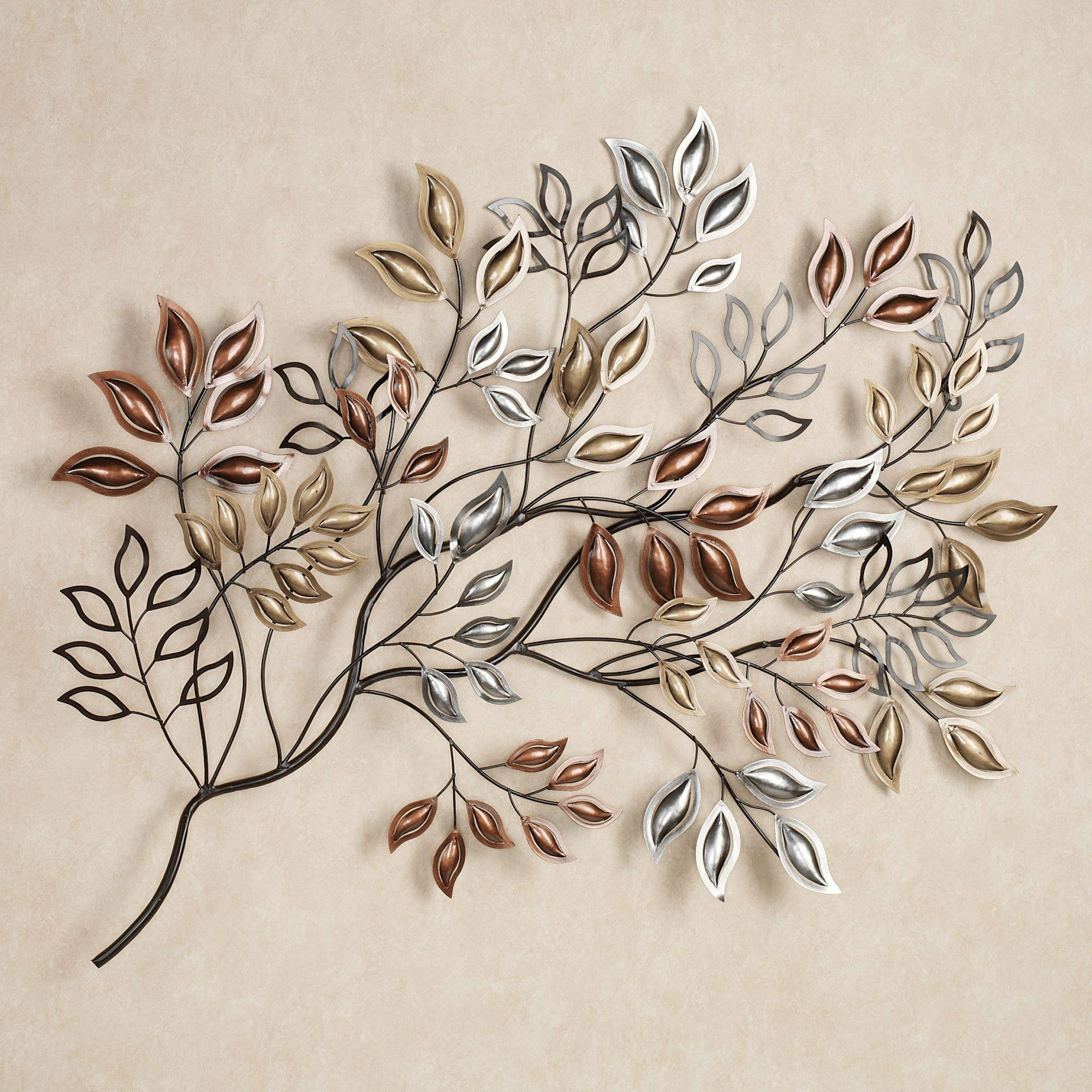 Leaf Metal Wall Art 20 Best Collection Of Metal Wall Art Branches