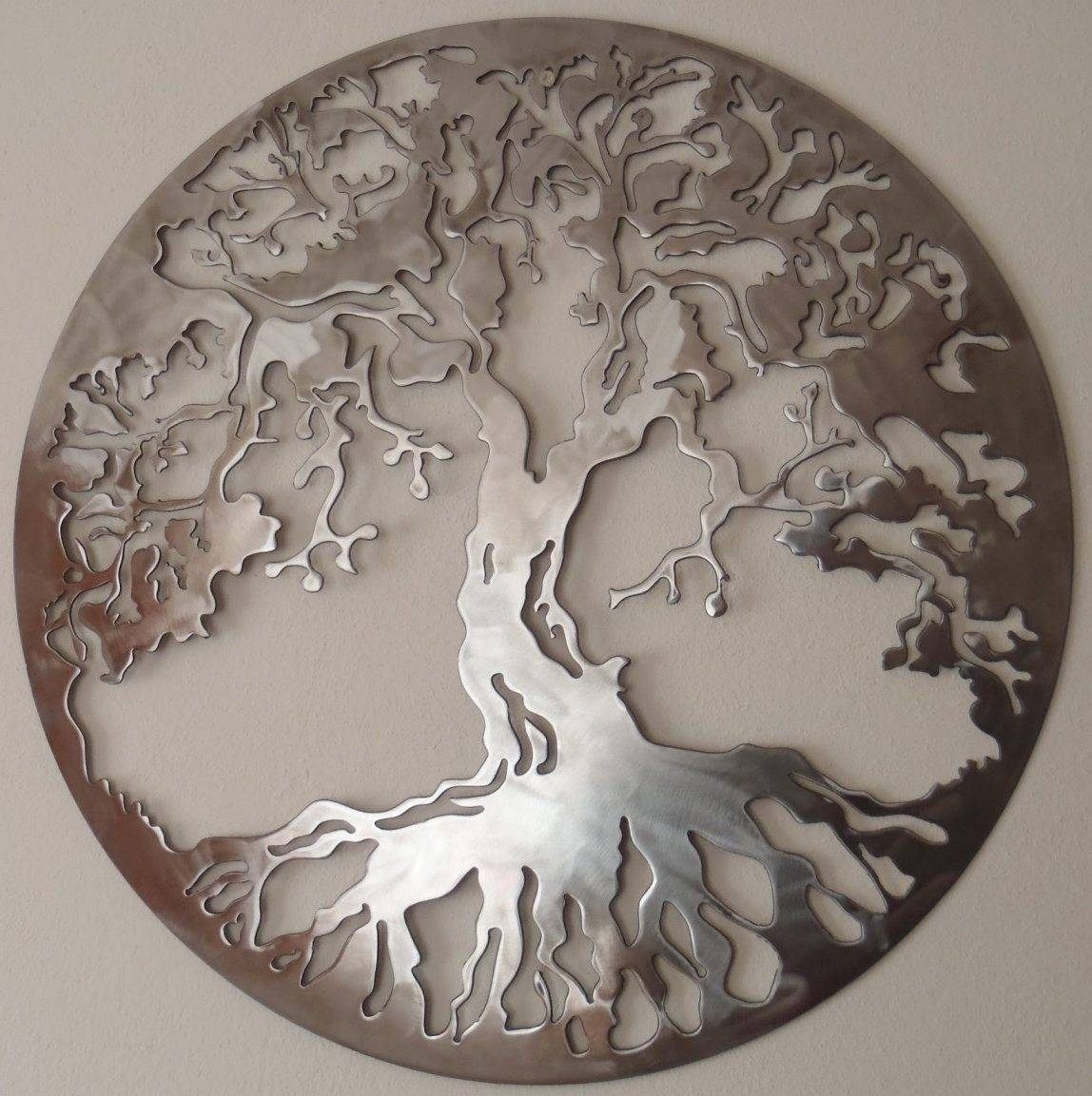 Wood Tree Wall Decor Round Wood And Metal Tree Wall Decor Wall Decor Ideas