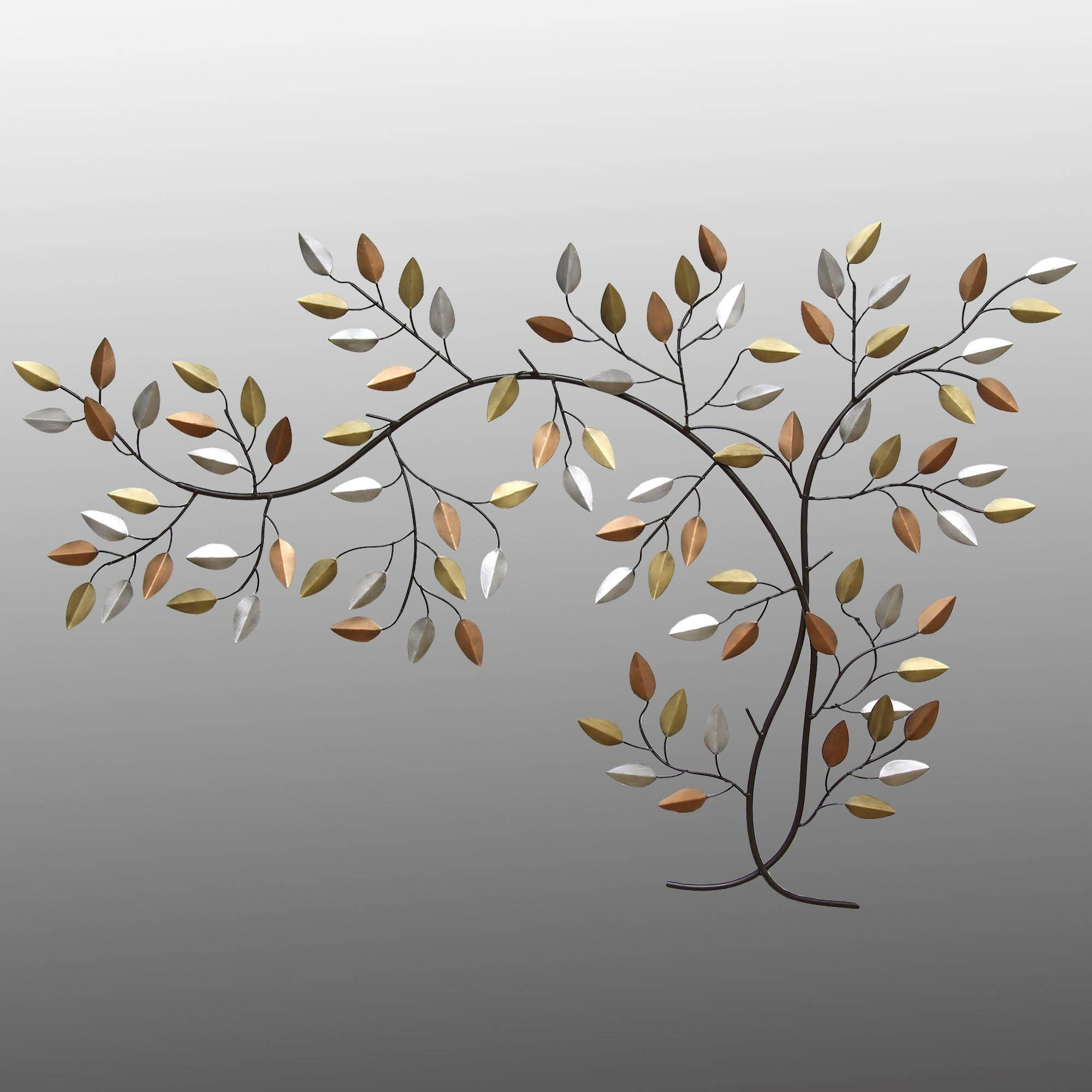 Leaf Metal Wall Art 20 Ideas Of Branches Metal Wall Art